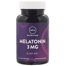 Мелатонин, 3 мг,  MRM 60 веганских капсул,
