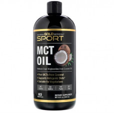 MCT oil, Масло со среднецепочечными триглицеридами, California Gold Nutrition, 946 мл