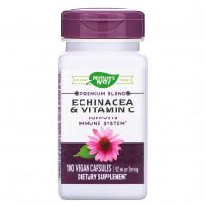 Natures Way, Эхинацея и витамин C, 492 мг, 100 капсул