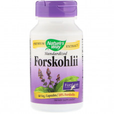 Natures Way, ForsLean - стандартизованный экстракт форсколина, 60 Капсул