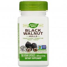 Natures Way, Черный орех, отруби, 500 мг, 100 капсул