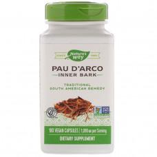 Natures Way, Кора муравьиного дерева, Pau d'Arco 545 мг, 180 вегетарианских капсул