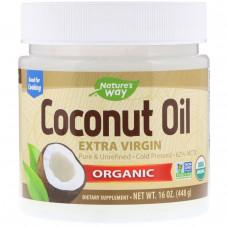 Natures Way, Органическое кокосовое масло холодного отжима (Extra Virgin), 16 унций (454 г)