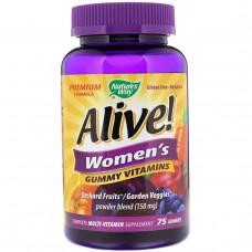 Natures Way, Alive! Женские жевательные витамины, 75 жевательных мармеладок