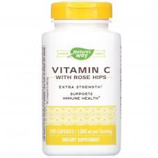 Natures Way, Витамин C-1000, с шиповником, 250 капсул