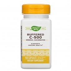 Natures Way, Буферизованный витамин C -500, 100 капсул