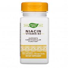 Natures Way, Ниацин 100 мг, Никотиновая кислота, 100 капсул