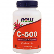 Витамин С 500 Vitamin C  (с шиповником) 500мг. (250таб.)