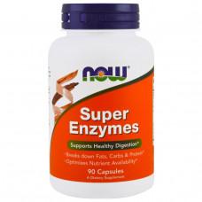 Пищеварительные ферменты Super Enzymes, NowFoods, 90 капс.