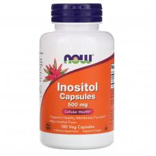 Инозитол - Bитамин Б8 (Inositol) NowFoods, (500 мг) 100 капс.