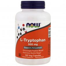 Now Foods, L-триптофан, 500 мг, 120 растительных капсул