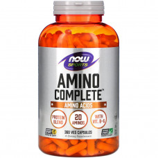Now Foods, Sports, Amino Complete, 360 капсул