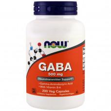Now Foods, GABA, Естественный успокаивающий эффект, 200 капсул