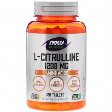 Now Foods, L-Citrulline, 1200mg, 120 Tablets
