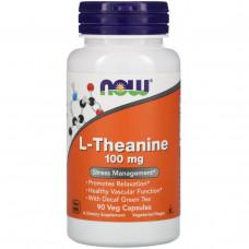 Now Foods, L-теанин, 100 мг, 90 мягких капсул
