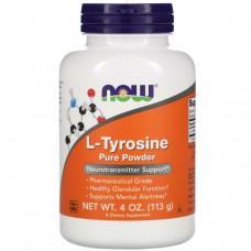 Now Foods, L-тирозин, 100% очищенный порошок, 4 унции (113 г)