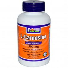 Now Foods, L-Карнозин, 500 мг, 100 капсул в растительной оболочке