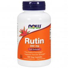 Now Foods, Рутин, 450 мг, 100 капсул на растительной основе