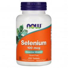 Селен Now Foods Yeast Free 100 мкг, 250 таблеток