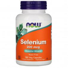 Селен Now Foods 200 мкг не содержит дрожжи, 180 капсул
