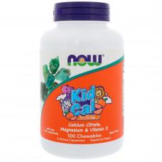 Детский комплекс кальций, магний и витамин D Now Foods, 100 шт