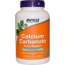 Карбонат кальция в порошке Now Foods, 340 г