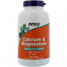Кальций и магний Now Foods, 250 таблеток