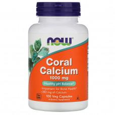 Кальций из кораллов Now Foods 1000 мг, 100 капсул
