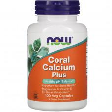 Коралловый кальций плюс Now Foods,100 капсул