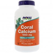 Коралловый кальций Now Foods 1000 мг, 250 капсул