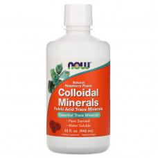 Коллоидные минералы со вкусом малины Now Foods, 946 мл