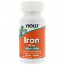 Хелат железа Now Foods 18 мг, 120 капсул