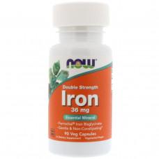 Микроэлемент железо в капсулах Now Foods 36 мг, 90 капсул