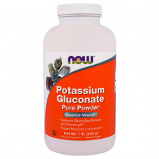 Глюконат калия Now Foods порошок, 454 г