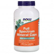 Мультиминералы полного спектра Now Foods, 240 капсул