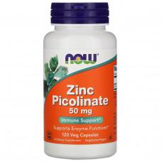 Цинк пиколинат Now Foods,  50 мг, 120 капсул