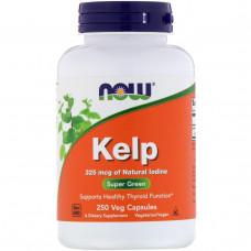 Натуральный йод Now Foods ламинария, 250 капсул