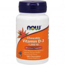 Витамин Д3  Vitamin D-3 Жевательный витамин D-3 1000 МЕ, 180 жевательных таблеток