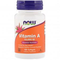 Витамин А  Vitamin A  Now Foods 10000 МЕ 100 капсул нау фудс