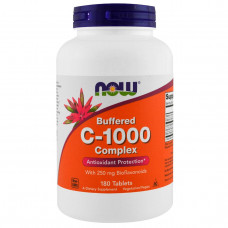 Now Foods, C-1000, Буферизованный C, 180 Таблеток