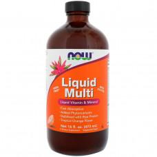 Мульмивитамины жидкие Now Foods Liquid Multi с ароматом тропического апельсина 16 жидких унций (473 мл)