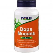Now Foods, Dopa Mucuna, 90 вегетарианских капсул