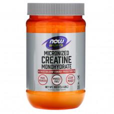 Now Foods, Спорт, моногидрат креатина, тонкоизмельченный, 1,1 фунта (500 г)
