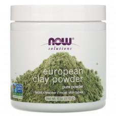 Now Foods, Solutions, порошок европейской глины, 6 унций (170 г)