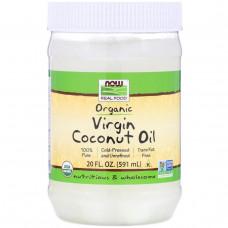 Now Foods, Органическое натуральное кокосовое масло, 20 жидких унций (591 мл)