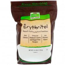 Now Foods, Эритритол, натуральный подсластитель, 2.5 фунта (1134 г)