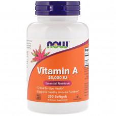 Витамин A Vitamin A Now Foods 25000 МЕ  250  капс. нау фудс