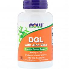 Now Foods, ГКС с алоэ вера (DGL with Aloe Vera), 400 мг, 100 капсул