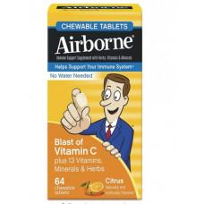 Поддержка иммунной системы, Airborne, Цитрус, 64 таблетки.