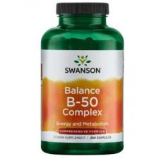 Комплекс витаминов группы В В complex Swanson, Витамин В-50 комплекс (250капс.)